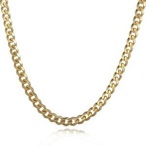 """5mm Curb Chain 18-30"""" Unisex Necklace"""